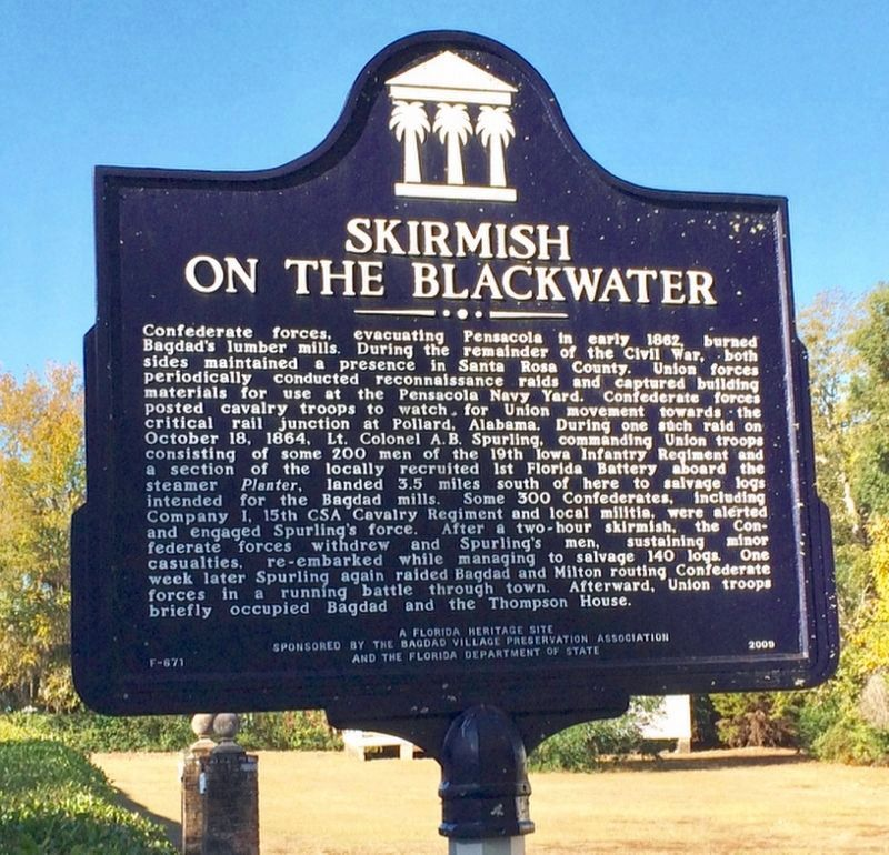 Skirmish on the Blackwater Marker image. Click for full size.