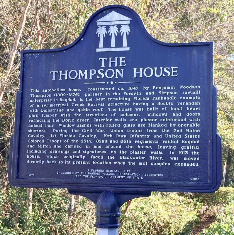 Thompson House Marker image. Click for full size.