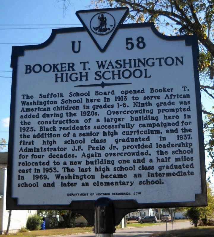 Booker T Washington School: Booker T. Washington High School Historical Marker