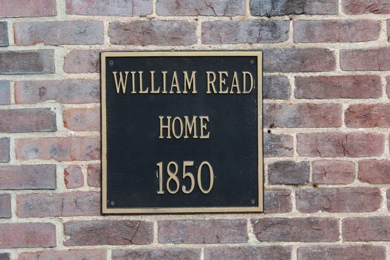 William Read Home Plaque image. Click for full size.