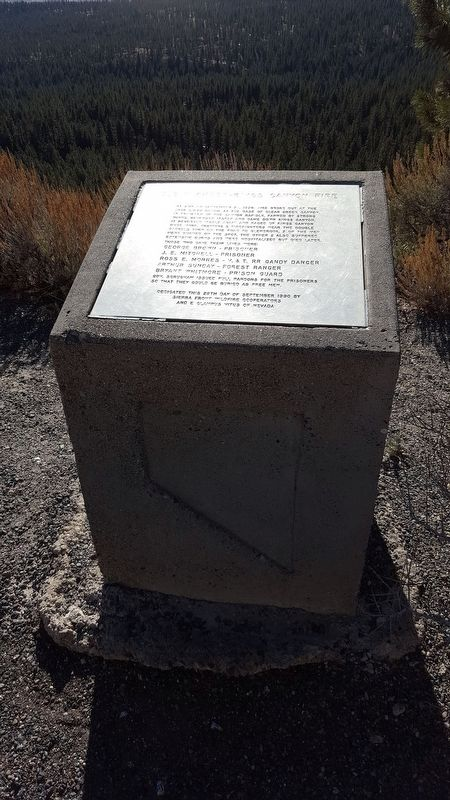 Clear Creek-Kings Canyon Fire Marker image, Click for more information