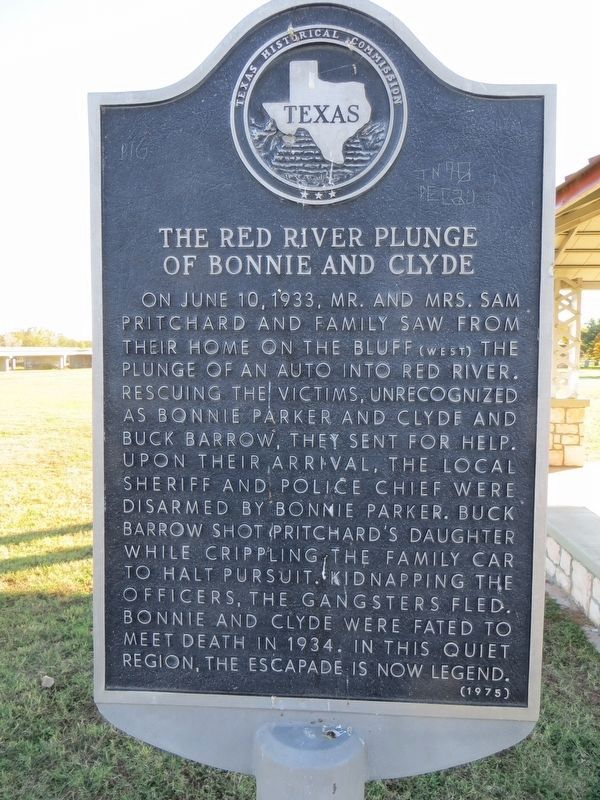 The Red River Plunge of Bonnie and Clyde Marker image. Click for full size.