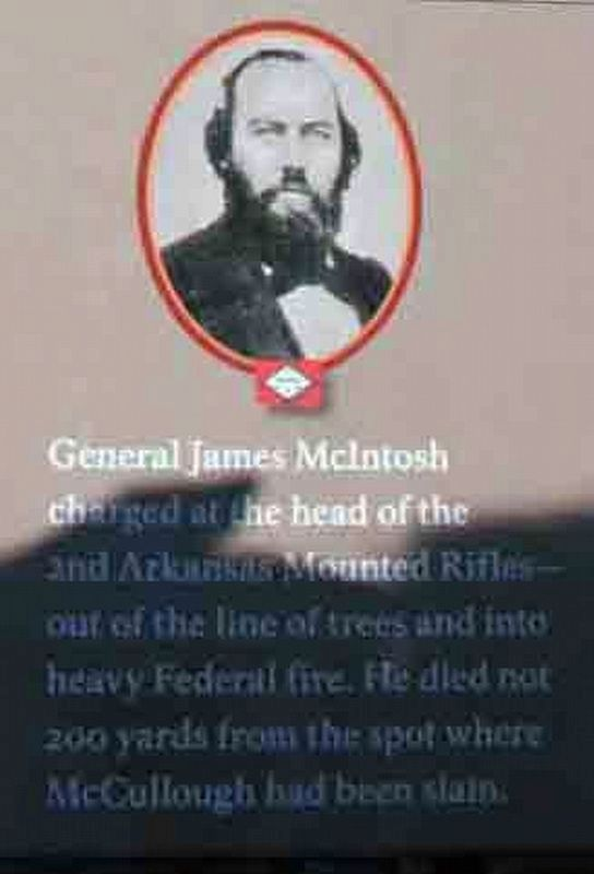 "Photo of General James McIntosh on the ""A Crisis in Command"" Marker image. Click for full size."