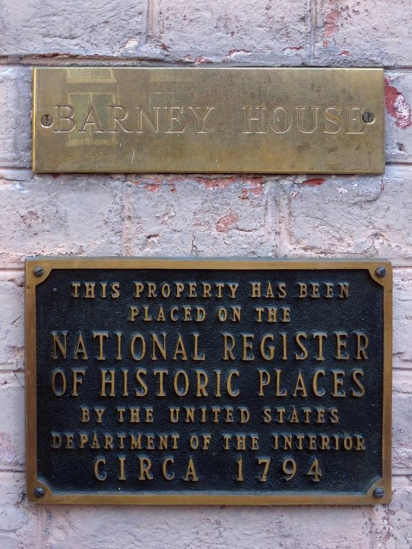 Barney House Marker image. Click for full size.