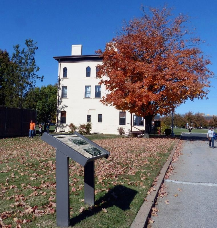 Lincoln Assassination Trial Marker<br>In Front of Building 20 image. Click for full size.