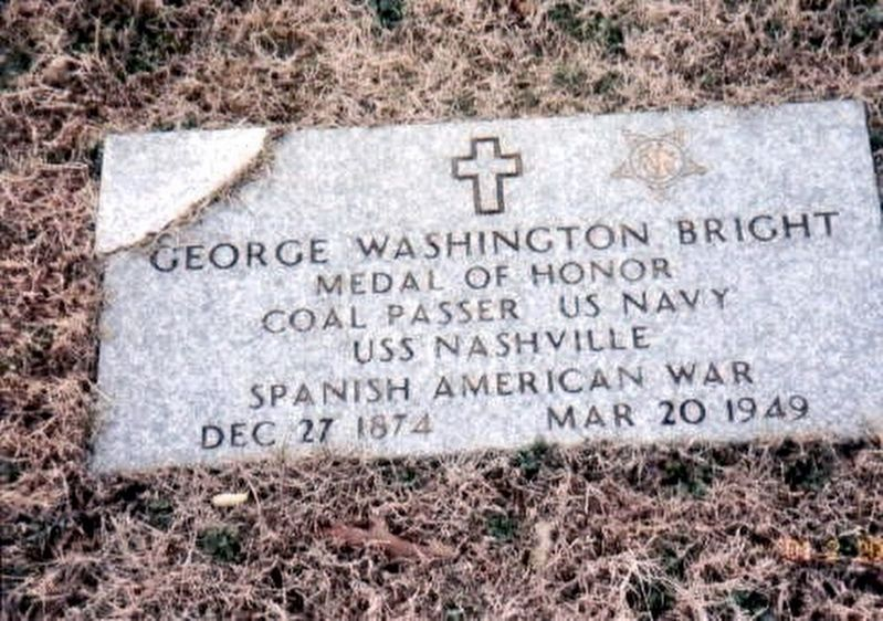 Congressional Medal of Honor Recipient George W. Bright grave marker image. Click for full size.