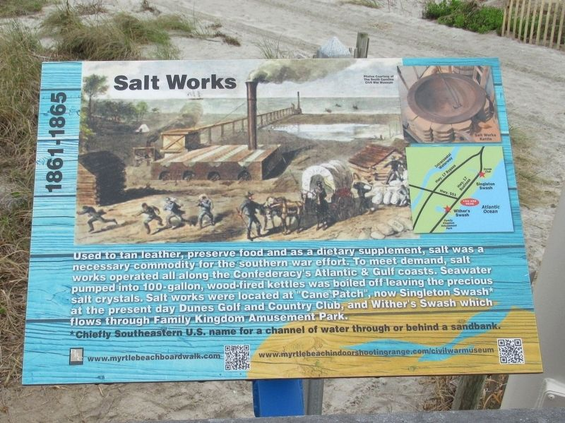 Salt Works Marker image. Click for full size.