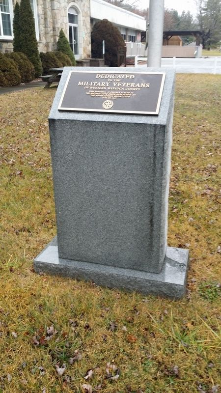 Military Veterans of Western Watauga County Marker image. Click for full size.