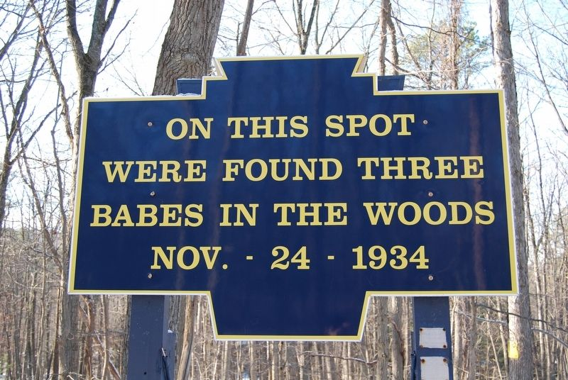 On This Spot Were Found Marker image. Click for full size.
