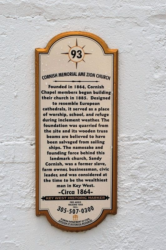 Cornish Memorial AME Zion Church Marker image. Click for full size.