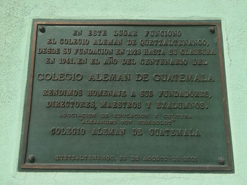 The German School of Guatemala Marker image. Click for full size.