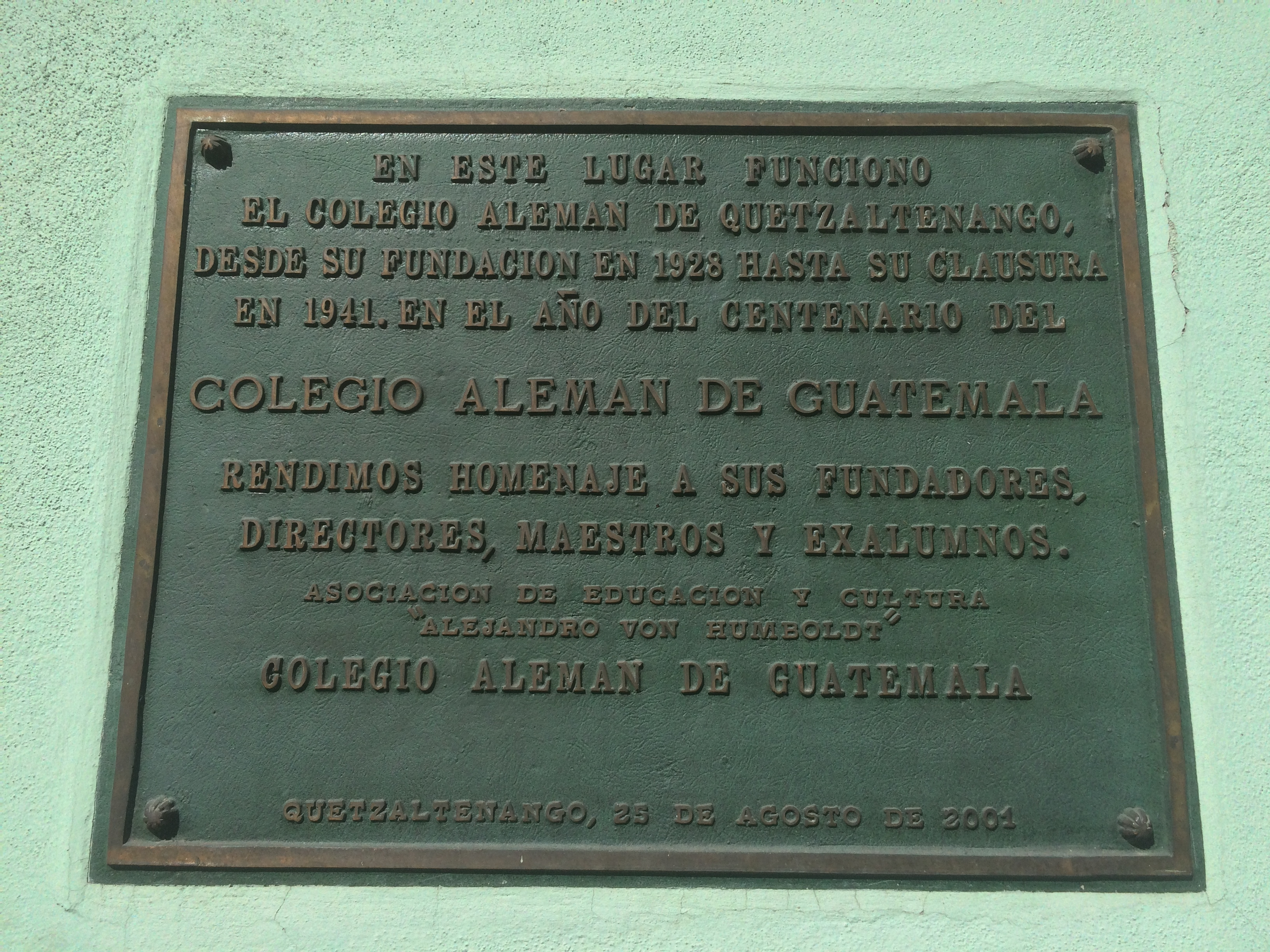 The German School of Guatemala Marker