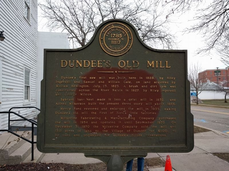 Dundee's Old Mill Marker image. Click for full size.