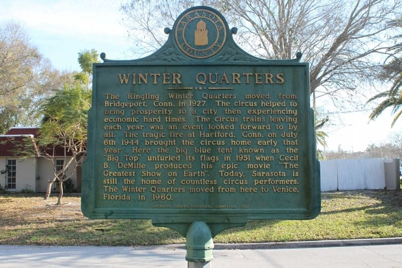 Winter Quarters Marker Side 1 image. Click for full size.