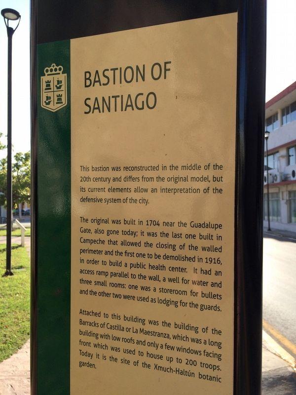 Bastion of santiago historical marker for Jardin botanico xmuch haltun