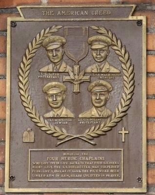 Four Chaplains Memorial Marker image, Click for more information