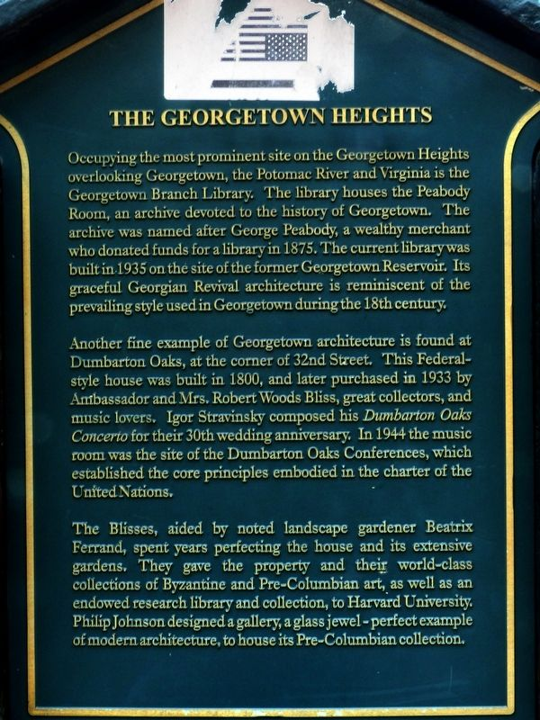 The Georgetown Heights Marker image. Click for full size.