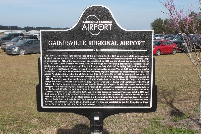 Gainesville Regional Airport Marker image. Click for full size.