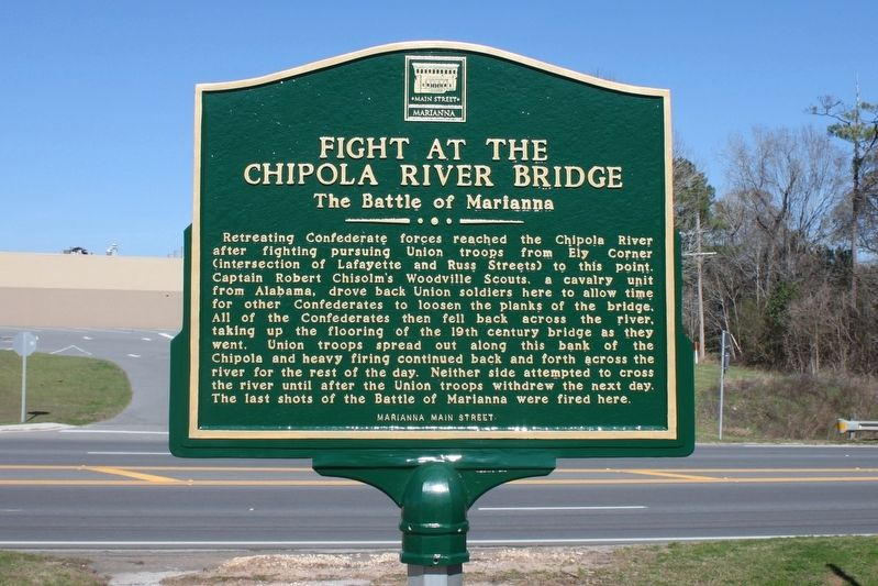 Fight at the Chipola River Bridge Marker image. Click for full size.