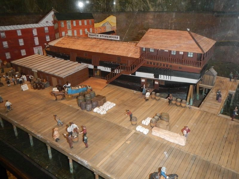 Diorama of the ship Niantic as a storehouse at the San Francisco Maritime Museum image. Click for full size.