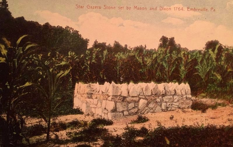 The Star Gazers Stone in a cornfield image. Click for full size.