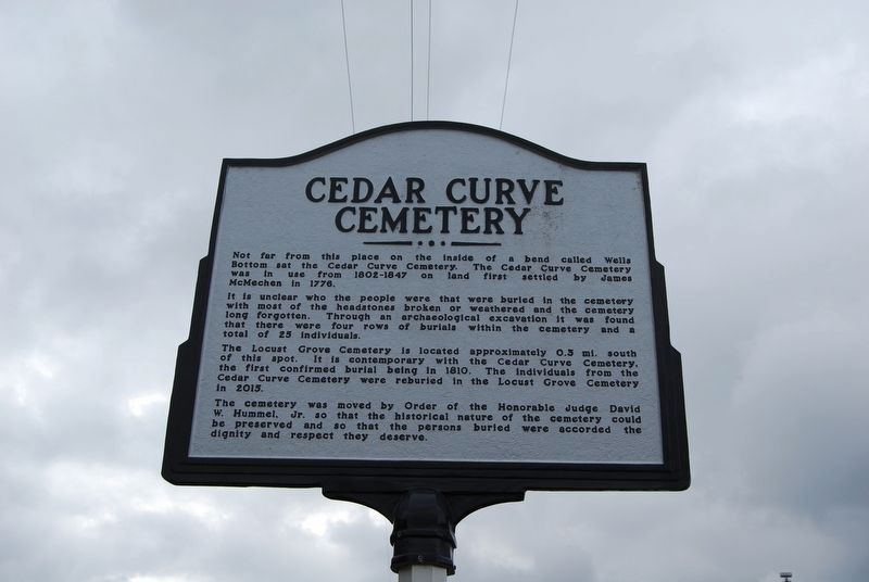 Cedar Curve Cemetery Marker image. Click for full size.