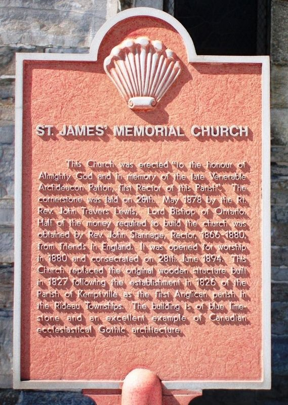 St. James' Memorial Church Marker image. Click for full size.