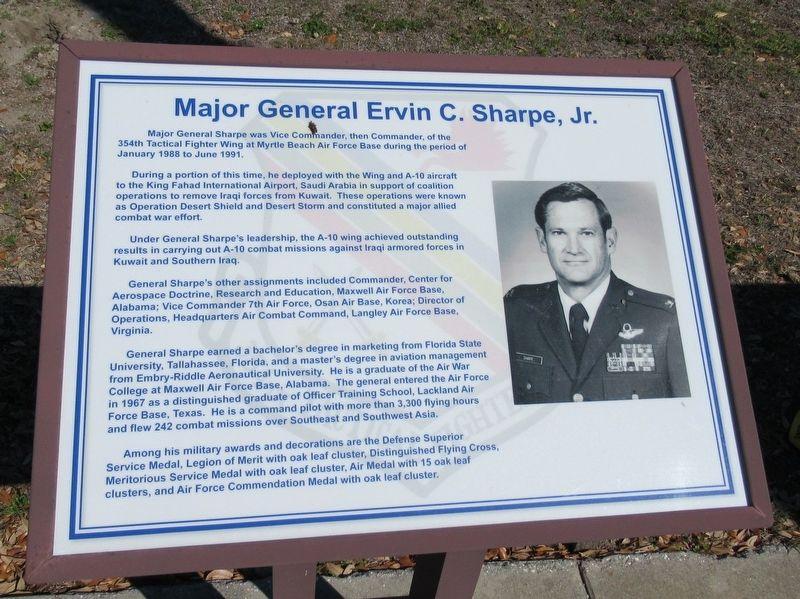 Major General Ervin C  Sharpe, Jr , a War Memorial