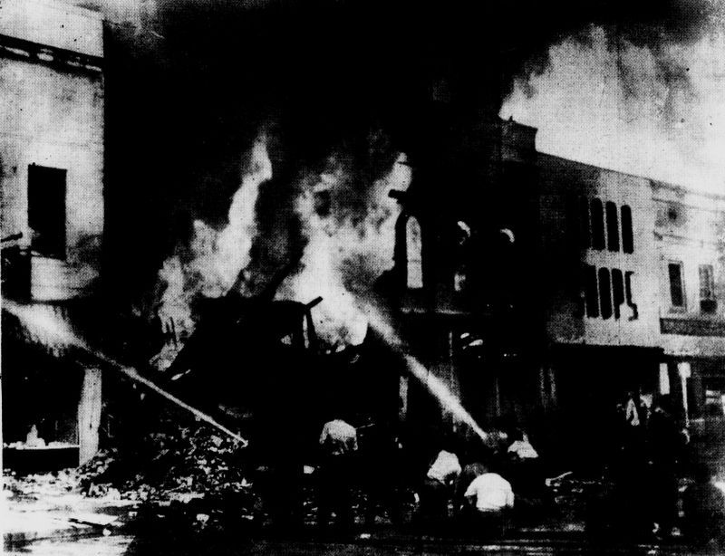 1953 Gas Explosion image. Click for full size.