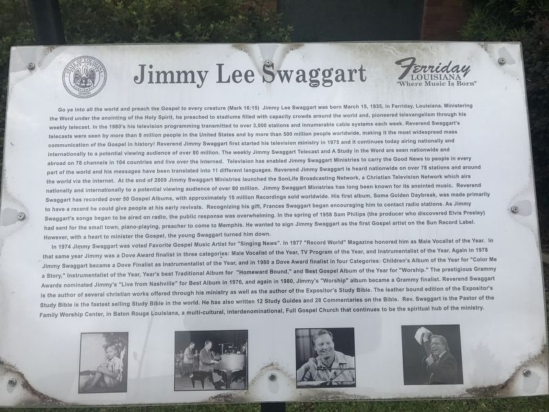 Jimmy Lee Swaggart Historical Marker