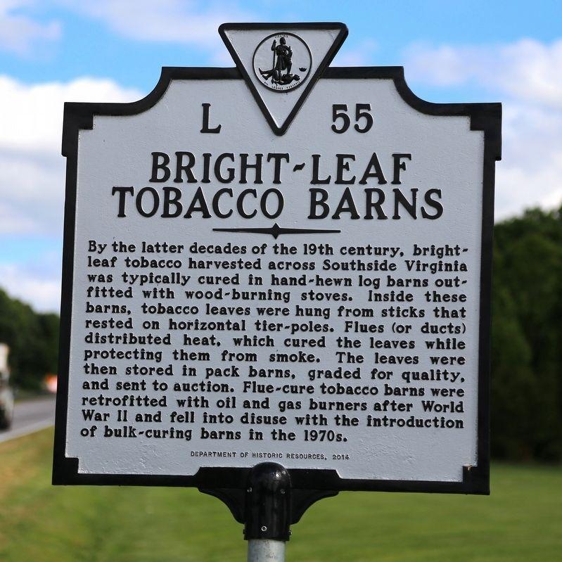 Bright-Leaf Tobacco Barns Historical Marker