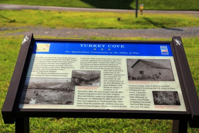 Turkey Cove Historical Marker
