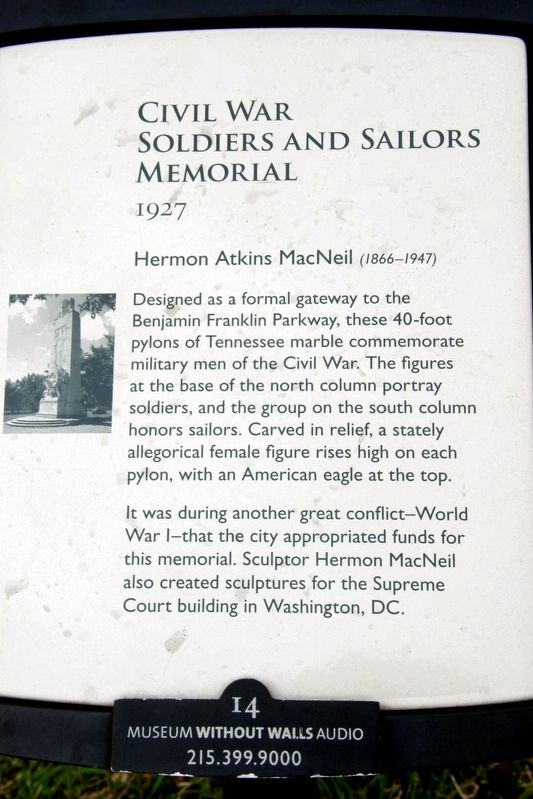 Civil War Soldiers And Sailors Memorial Historical Marker
