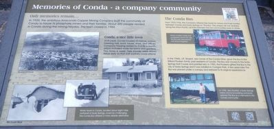 Memories of Conda - a company community Historical Marker