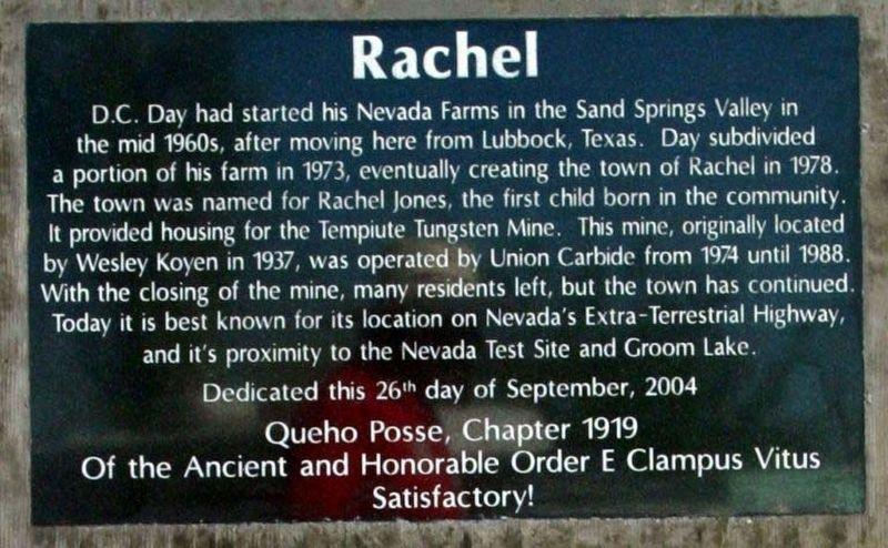 a brief history of rachel nevada essay