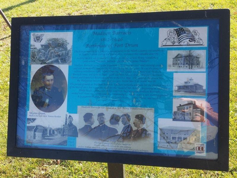 Madison Barracks Historical Marker