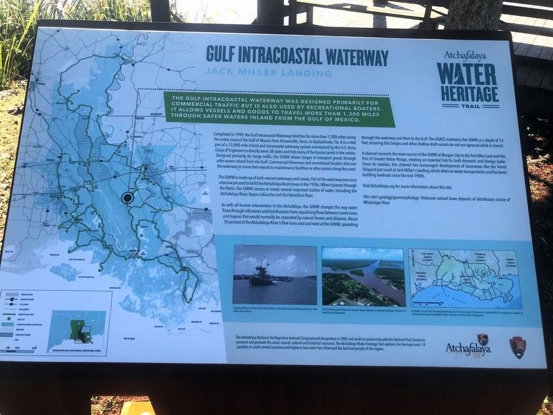 Gulf Intracoastal Waterway Historical Marker