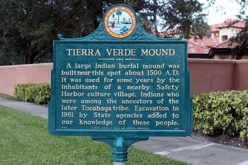 Tierra Verde Mound Historical Marker