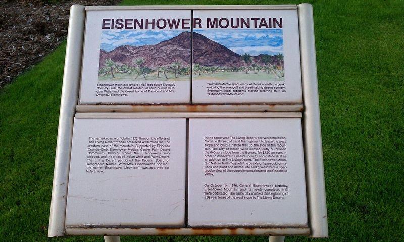 Eisenhower Mountain Historical Marker