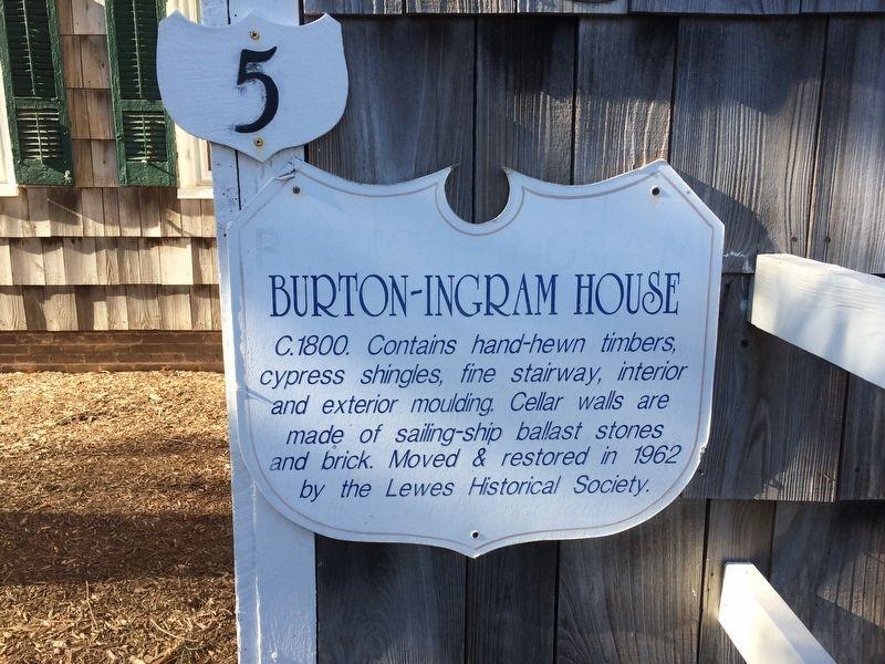 Burton-Ingram House Historical Marker