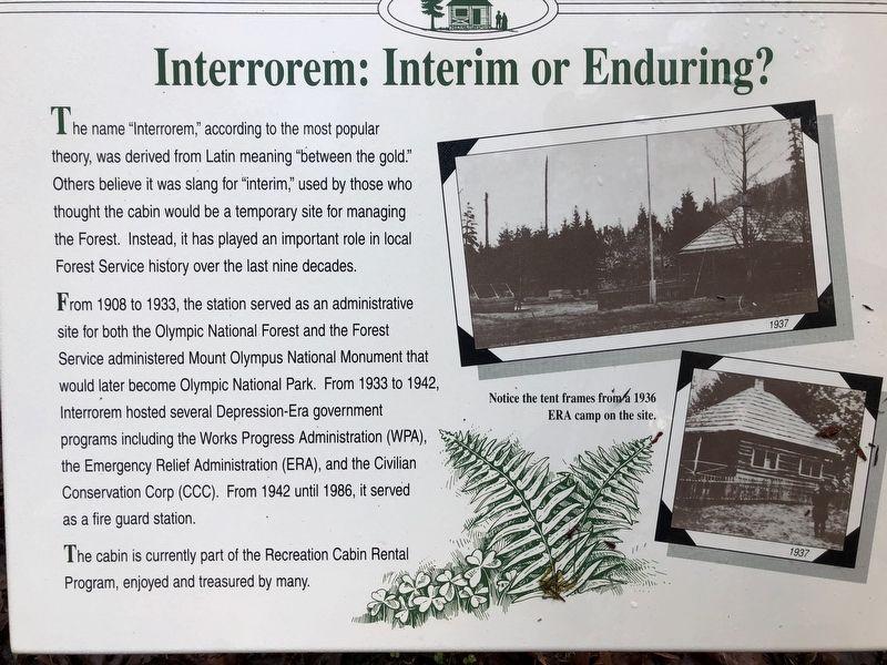 Interrorem: Interim or Enduring? Historical Marker