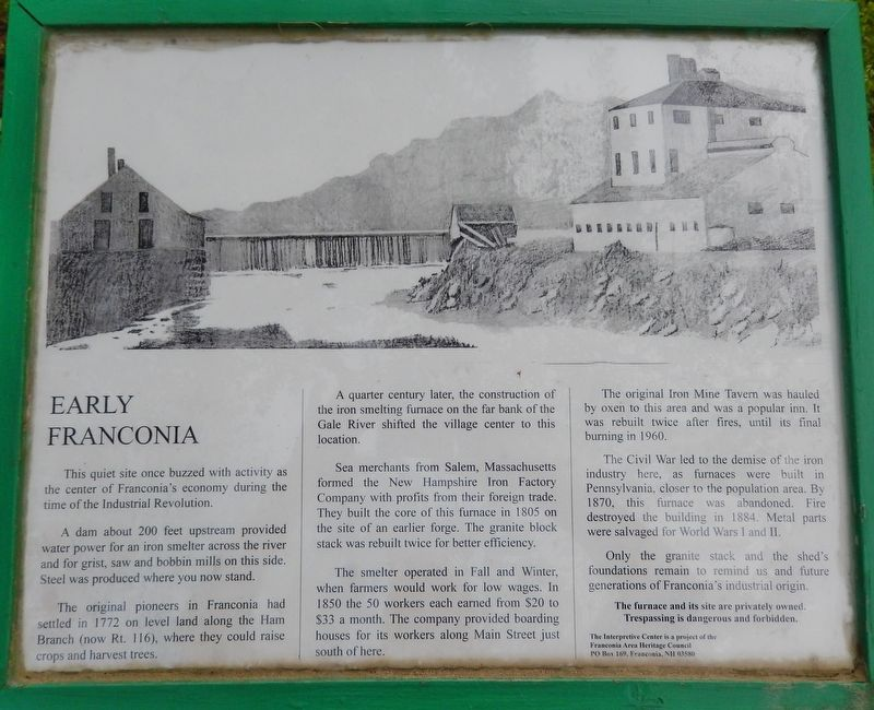 Early Franconia Historical Marker