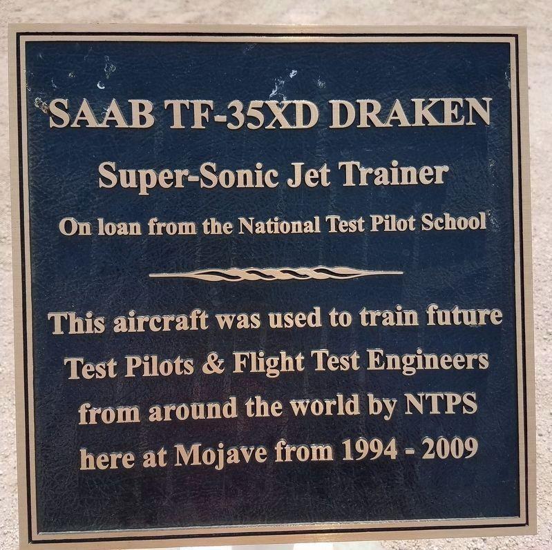 SAAB TF-35XD Draken Historical Marker