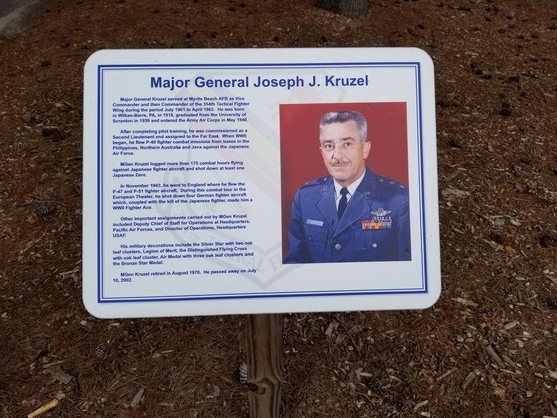 Major General Joseph J  Kruzel Historical Marker