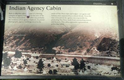 Indian Agency Cabin Historical Marker
