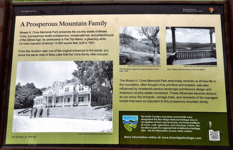 A Prosperous Mountain Family Historical Marker