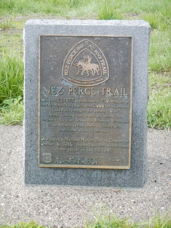 Nez Perce Trail Historical Marker