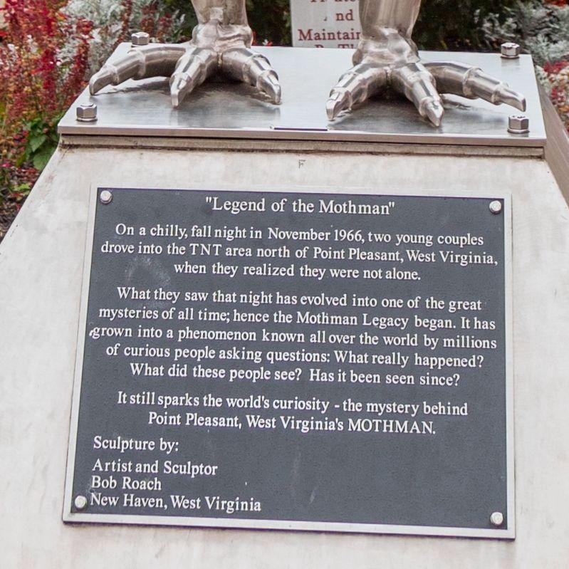 """Legend of the Mothman"""" Historical Marker"""