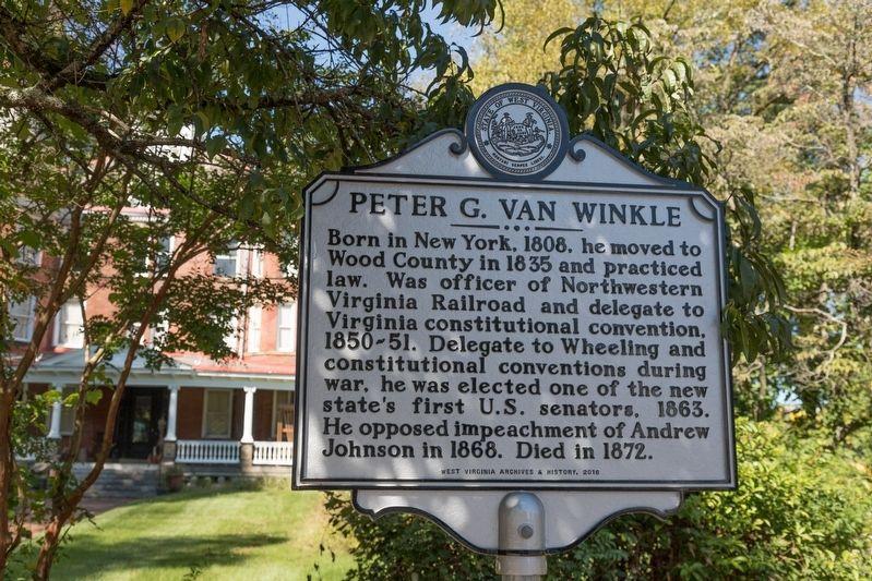 Peter G  Van Winkle Historical Marker
