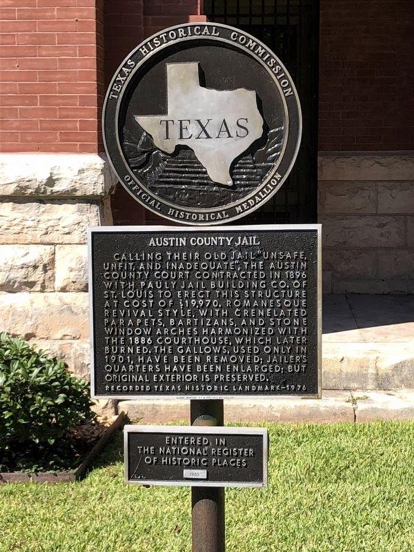 Austin County Jail Historical Marker
